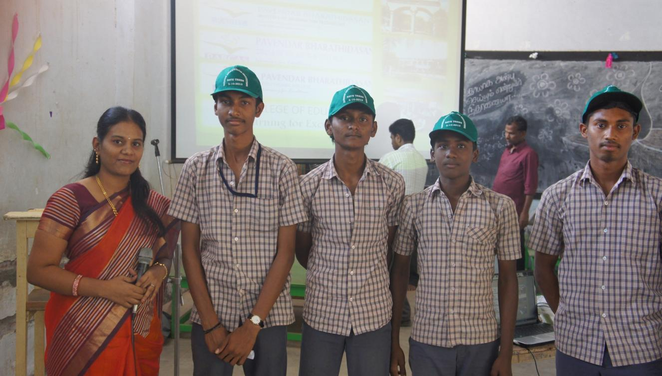 pavendar bharathidasan college of engineering technology encourage the student at career guidance of sacred heart higher secondary school ponmalaipatti